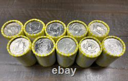 10 Rolls Of Half Dollar Coins, Unsearched, FED SEALED, Possible SILVER, $100 FV