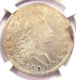 1795 Flowing Hair Bust Half Dollar 50C Certified NGC Fine Detail Rare Coin