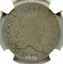 1795 Flowing Hair Liberty Silver Half Dollar, NGC G-04 2 Leaves, Very Nice Coin