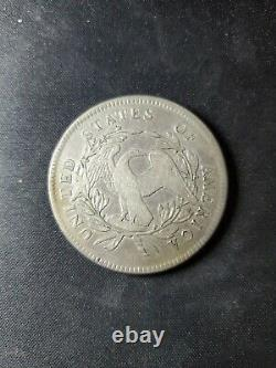 1795 Flowing Hair Silver Dollar Fine Details Holed