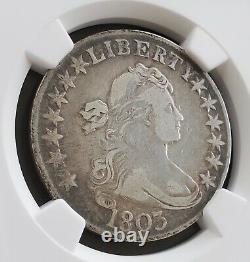 1803 Half Dollar 50¢ Silver Coin, NGC Certified VF Details