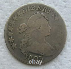 1803 Large 3 Draped Bust Half Dollar Mid Grade - We Have The Tough Dates