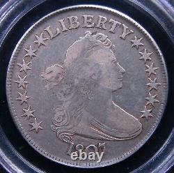 1807 Draped Bust Half Dollar Pcgs Very Fine 20 Nice With Some Remaining Luster