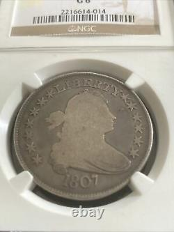 1807 Draped Bust Silver Half Dollar G-6 Ngc Certified