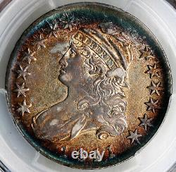 1811 Capped Bust Half Dollar Small 8 PCGS AU53 Gorgeous Toning