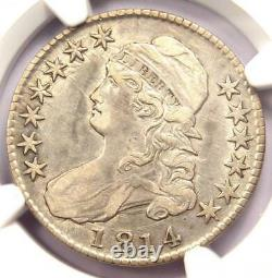 1814 Bust Half Dollar 50C O-103 NGC XF Detail (EF) Rare Date Certified Coin
