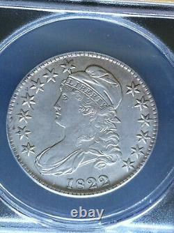 1822 Capped Bust Half Dollar 50c ANACS AU 53 Better Collector Grade & Type