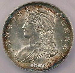 1833 Capped Bust Half Dollar ICG MS63+ Beautifully toned and SO FLASHY! WOW