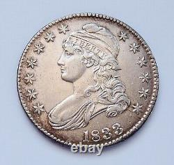 1833 U. S. Capped Bust Silver Half Dollar Almost Uncirculated Condition