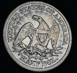 1853 Seated Liberty Half Dollar 50C ARROWS RAYS Ungraded Silver US Coin CC8513