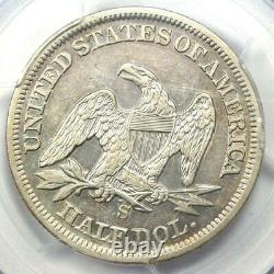 1858-S Seated Liberty Half Dollar 50C PCGS XF Details Rare Date Coin