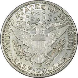 1906 D Barber Half Dollar AU About Uncirculated 90% Silver 50c US Type Coin