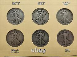 1916-1937 COMPLETE Library of Coins Walking Liberty Half Dollar Collection