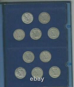 1916-1947 Complete Walking Liberty Silver Half Dollar Set (total Of 65 Coins)