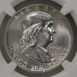 1951 Franklin 50C NGC CAC Certified PF65 Proof Struck Silver Half Dollar Coin