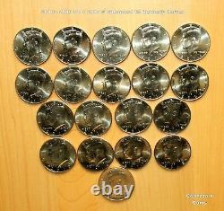 1964 2020 Kennedy Half P&D 108 Coin COMPLETE Uncirculated Set with2 S Issues