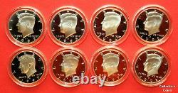 1992-2020 S Kennedy Half Set wALL 29 90% SILVER Proofs Set in Direct Fit Holders