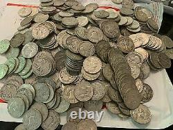 20 CIRCULATED 1 ROLL 90% SILVER WALKING LIBERTY HALF DOLLARS $10 FACE full date