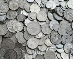 $5.00 Face Value. 90% Silver Coins Mixed Lot Dimes & Half Dollars