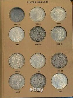 AWESOME Nearly Complete Morgan Silver Dollar Set, 85 of 95 Coins, Over Half BU