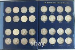 Complete Circulated Set 1948-1963 Franklin Silver Half Dollars 35 Coins