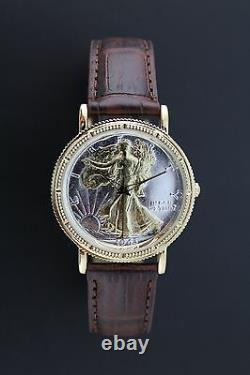 Genuine Walking Liberty Half Dollar Watch with Genuine Leather strap