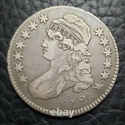Silver 1812 Capped Bust 50 Cents Half Dollar Fine+ Condition
